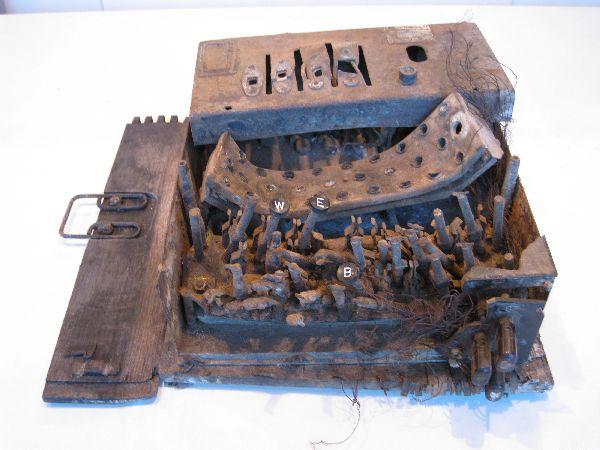 War-Damaged German Navy 4 Rotor Enigma